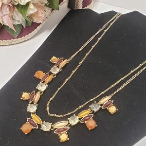 Unique The Limited Multi Color Crystal Necklace
